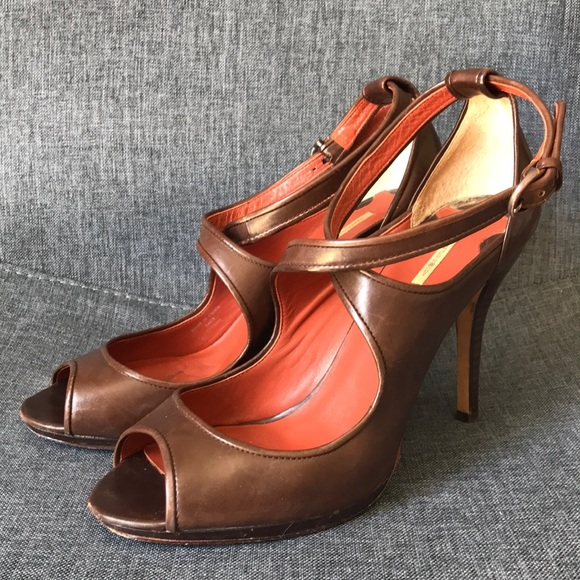 Women's Shoes Brown Max Studio Maxstudio Size 8 Strappy Stiletto High Heels